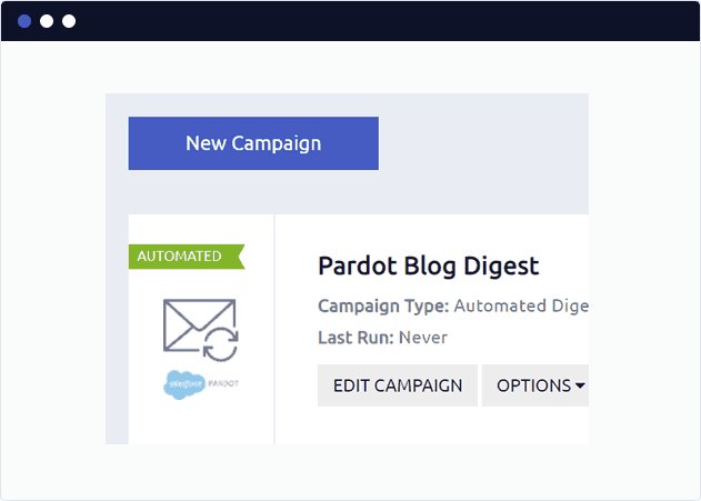 Create a new Pardot blog digest