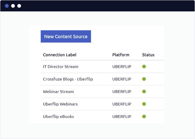 Add an UberFlip Content Source to FeedOtter