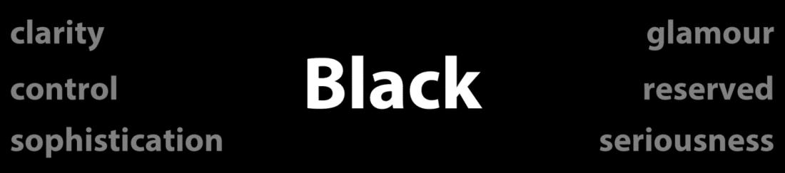 Psychology of Color Black