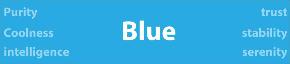 Psychology of color blue