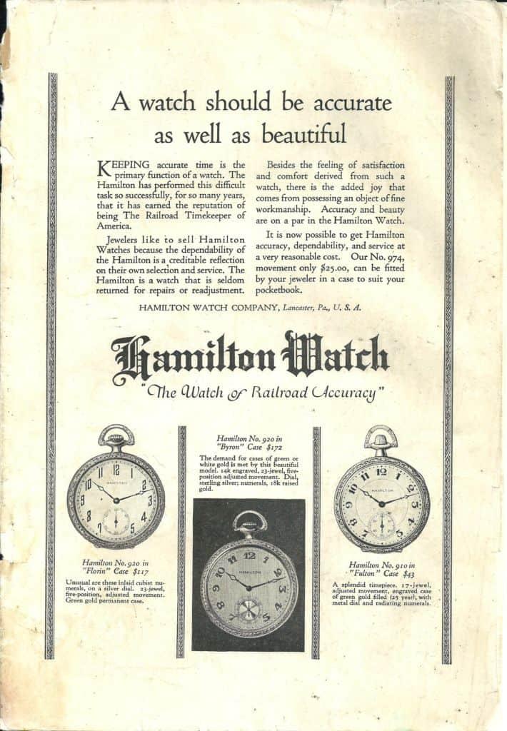 1-1923 hamilton vintage advertisement