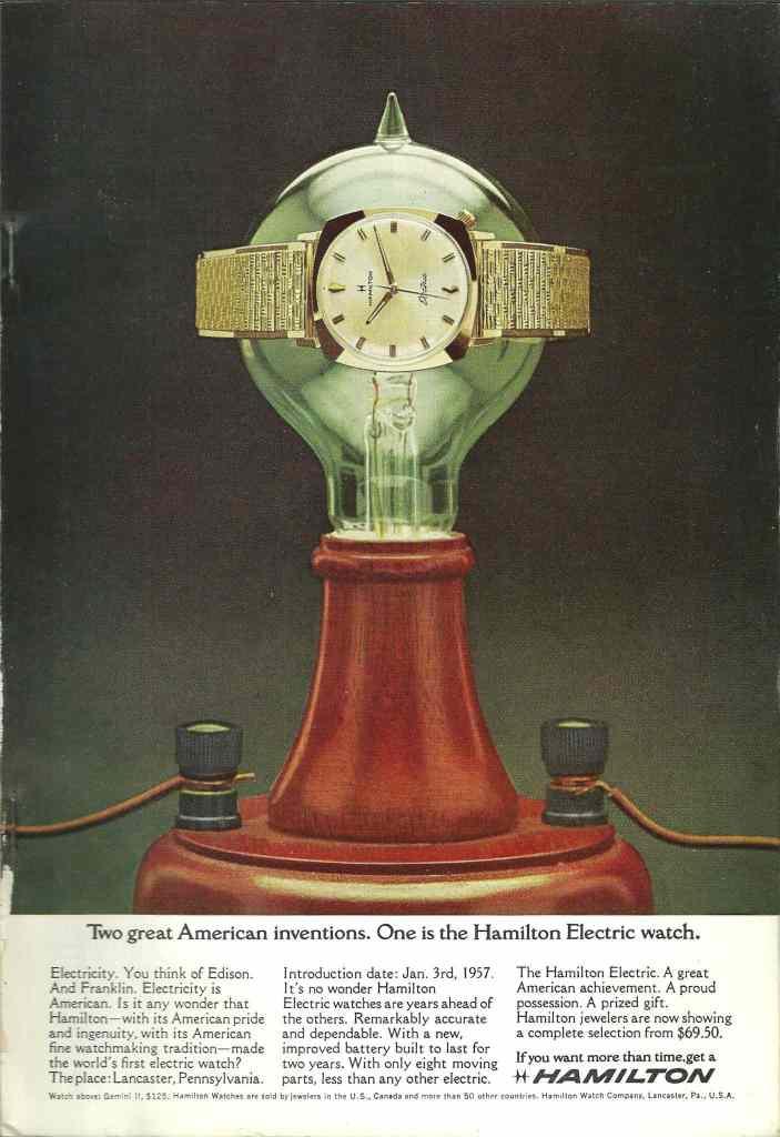 1965 Hamilton Vintage Print ads