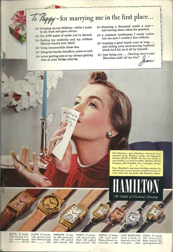Watch ads vintage