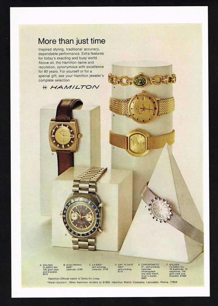 1971 Hamilton Vintage Print ads