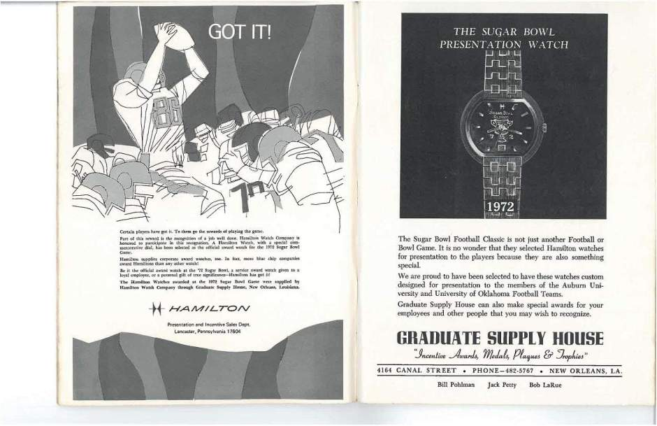 1972 Hamilton Vintage Print ads