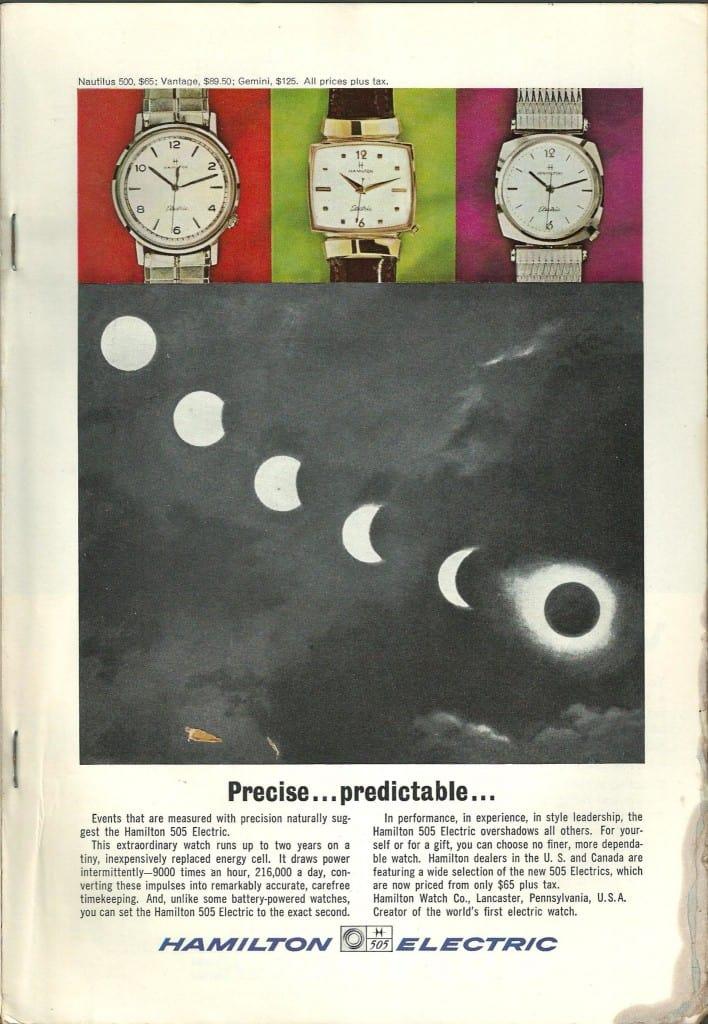 1964 Hamilton Vintage Print ads