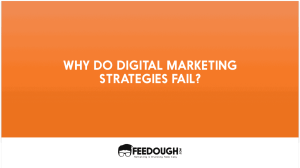 9 Reasons why Digital Marketing Strategies Fail