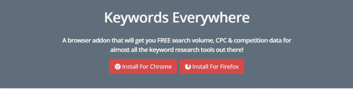 keywords everywhere free digital marketing tools