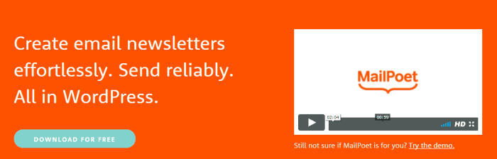 mailpoet free digital marketing tools