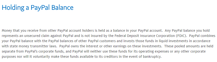 how does paypal make money interest