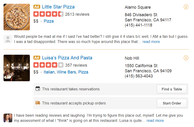 yelp ads how does yelp make money