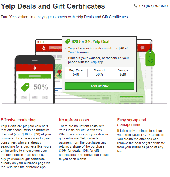 yelp deals and gift certificates how does yelp make money