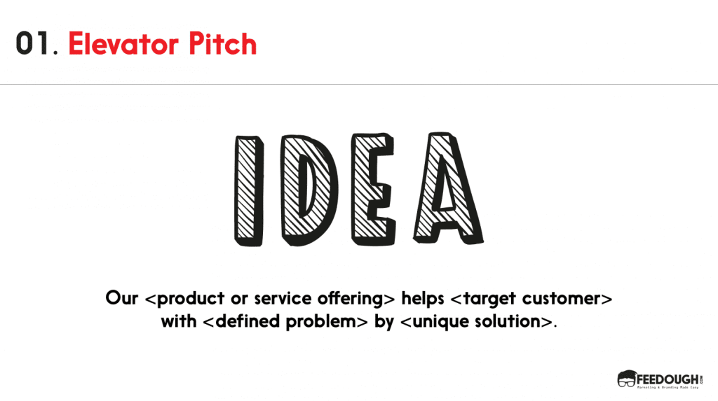 pitch deck- elevator pitch