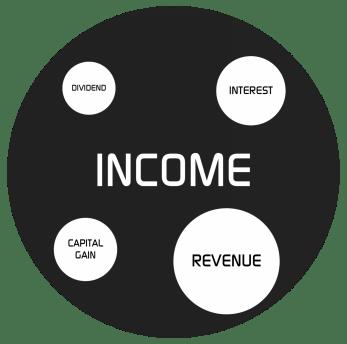 REVENUE vs INCOME