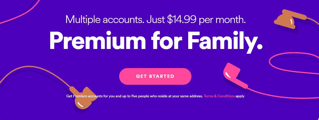 Gratis spotify premium family
