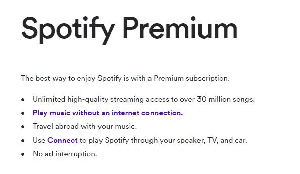 spotify premium features