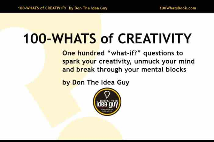 100 whats of creativity