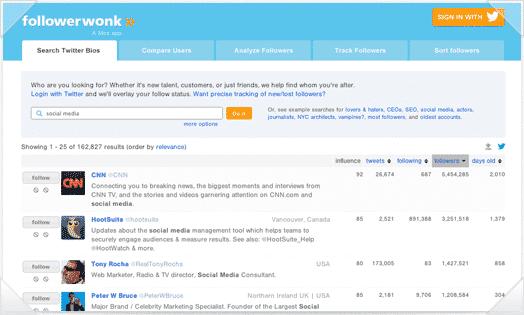 followerwonk market research tool