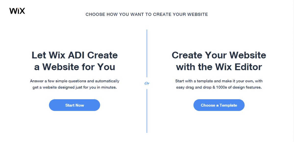 wix create website 2