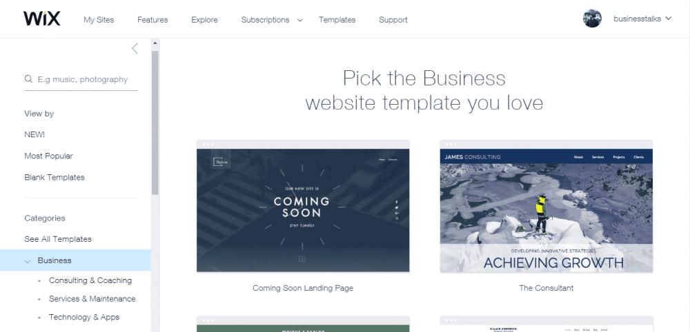 wix create website 3