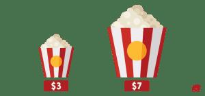 decoy effect popcorn
