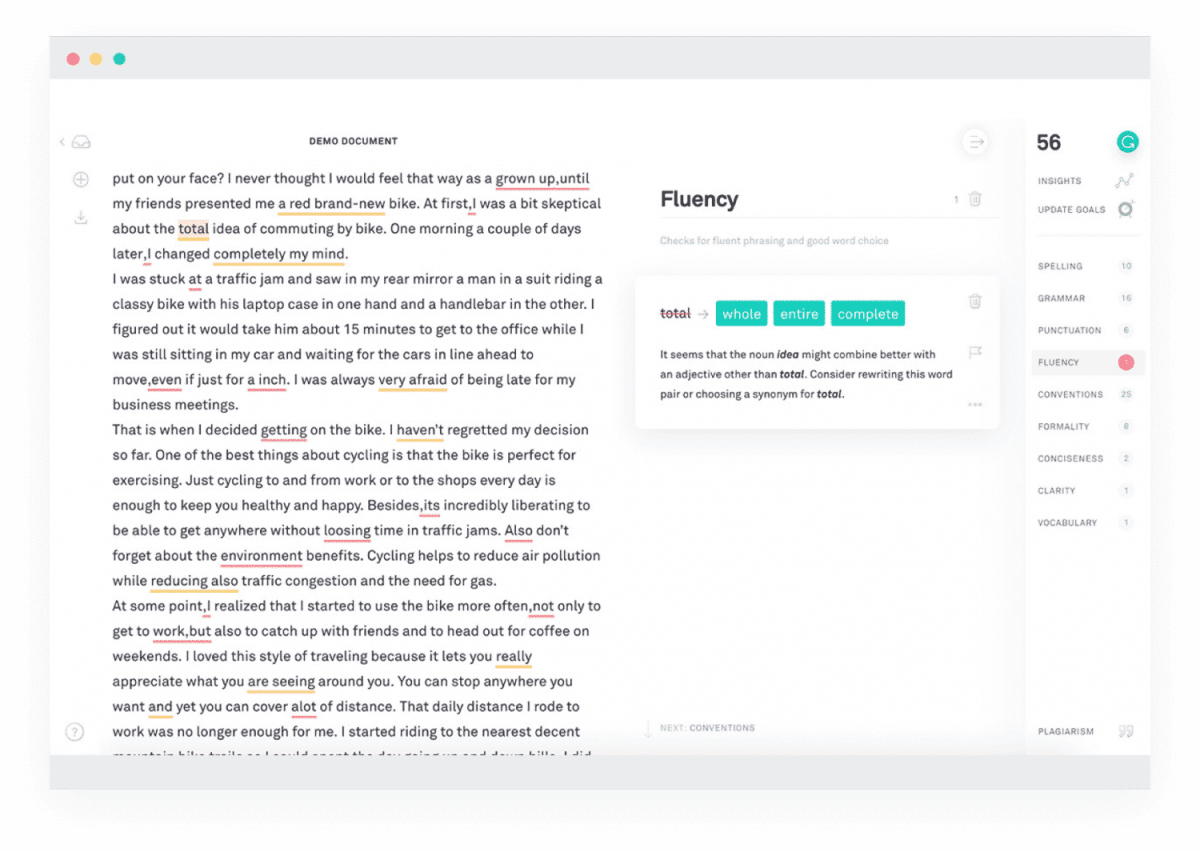 grammarly native app