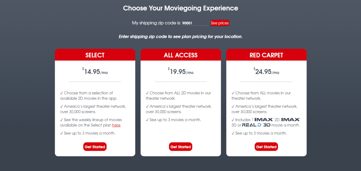 moviepass prices