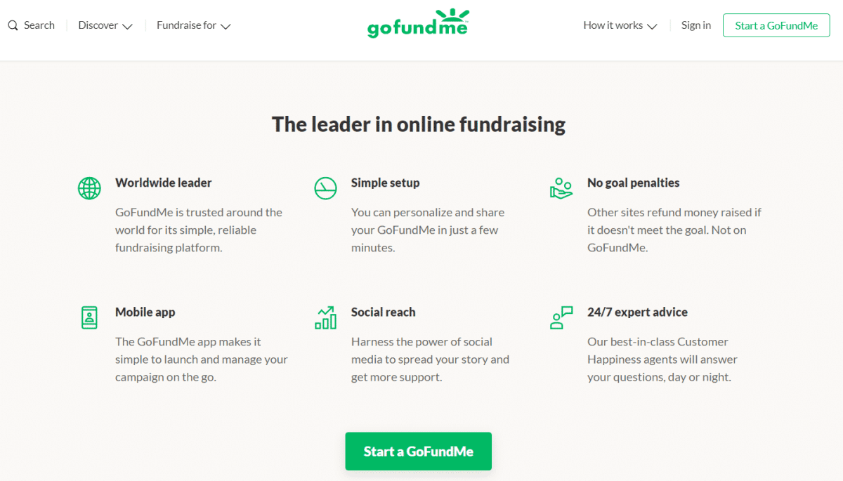 gofundme business model