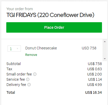 uber eats delivery fee