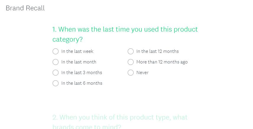 brand awareness survey
