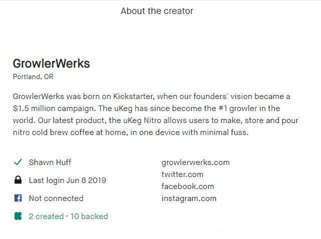 about creator kickstarter