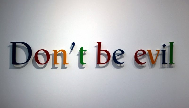 don't be evil google motto