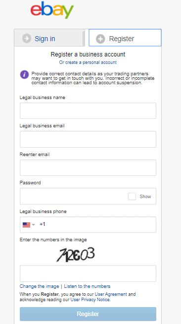 ebay sign up