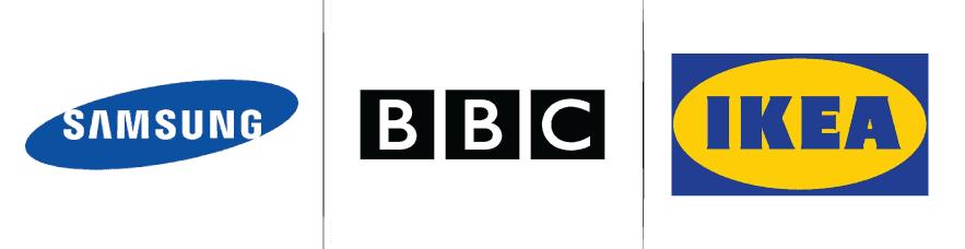 Contoured logo