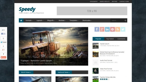 Speedy WordPress Theme