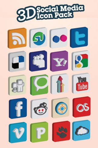 3D Social Media Icon Pack