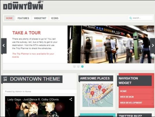 Downtown Blogger Template