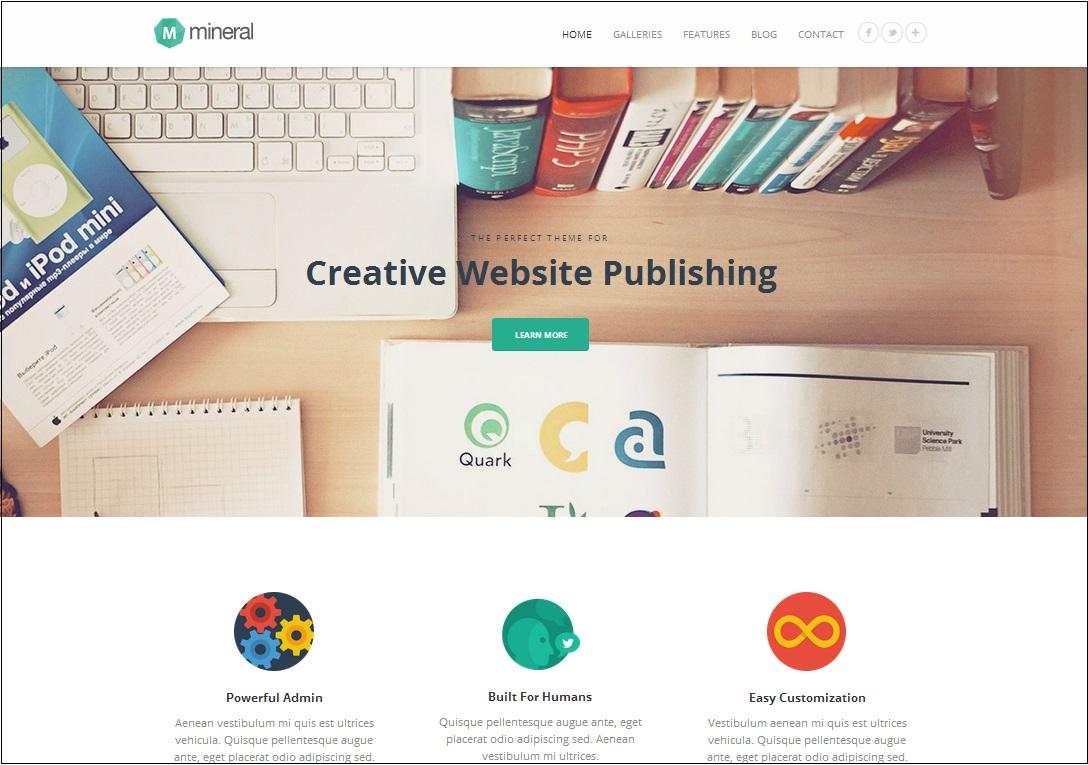 Mineral WordPress Theme.