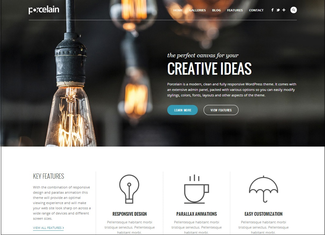 Porcelain WordPress Theme