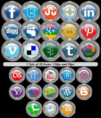 Silver Circle Icons