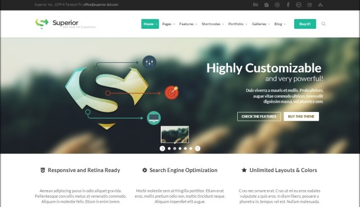 Superior WordPress theme