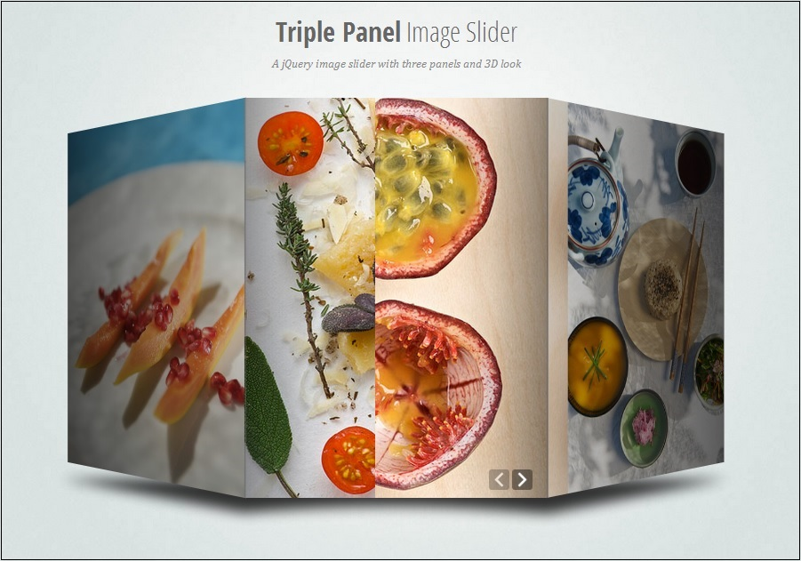TRIPLE PANEL IMAGE SLIDER