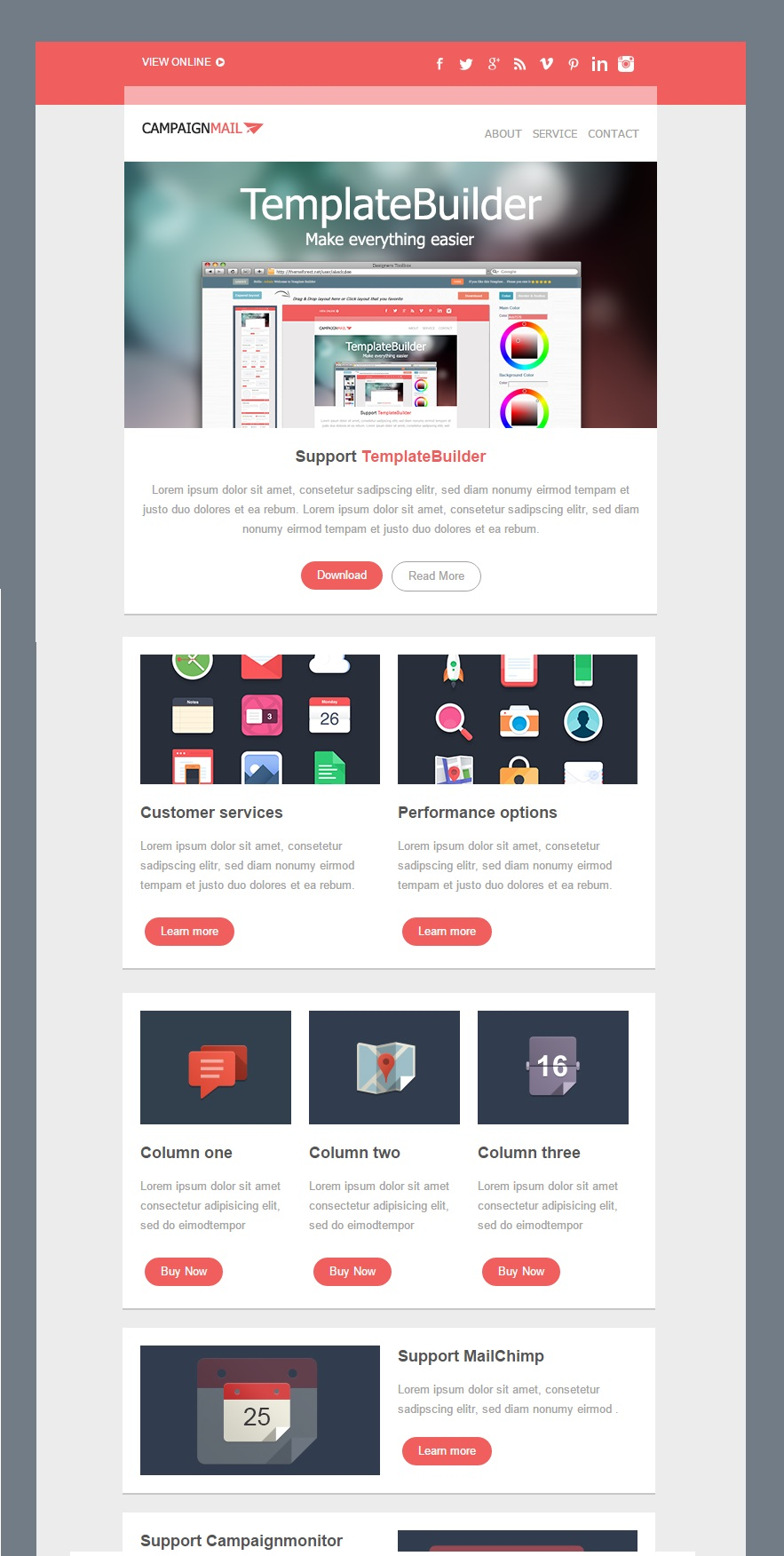 CampaignMail Responsive Email Template
