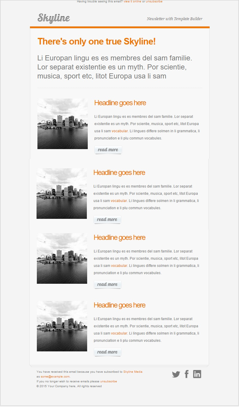 Skyline Responsive email template