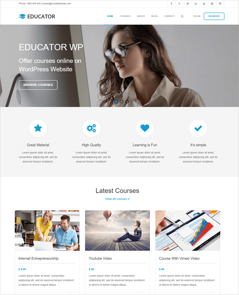 Educator WP WordPress Theme