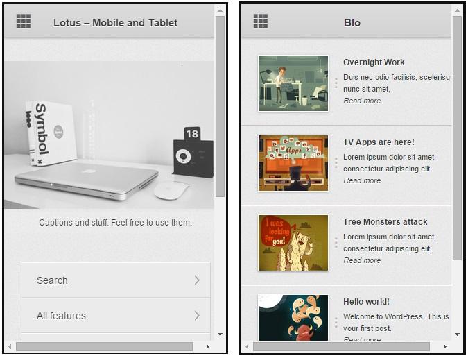 Lotus mobile wordpress theme