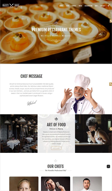 majesty restaurant wordpress theme