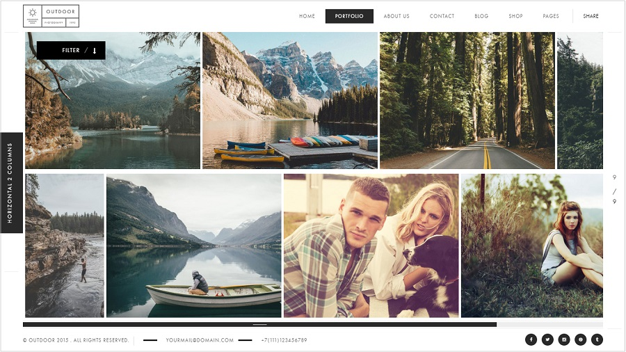 Outdoor Photography wordpress theme