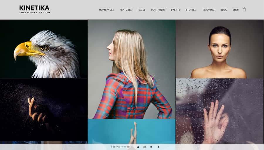 Kinetika - WordPress Photography Theme
