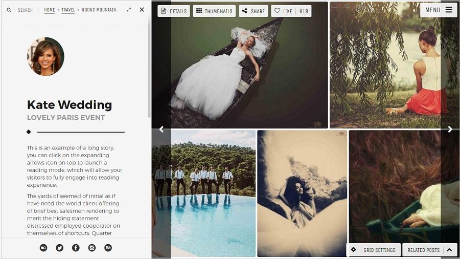 Moon Photography WordPress theme